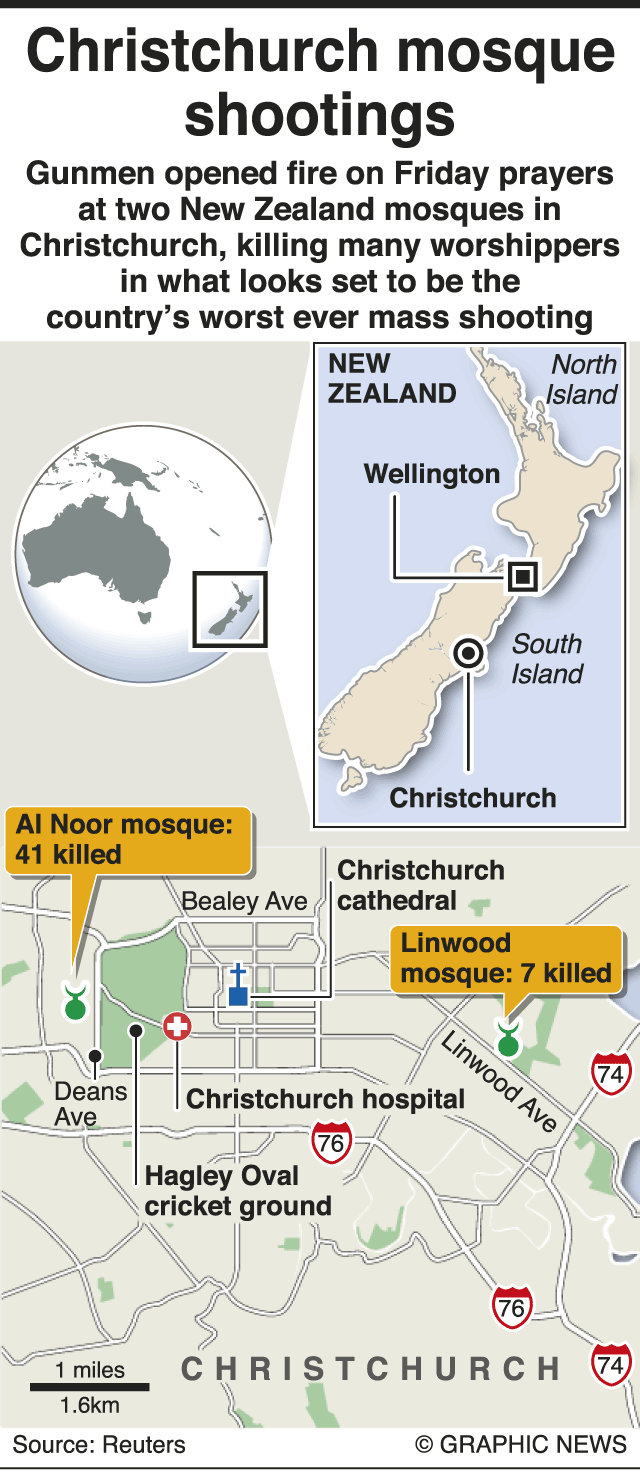 New Zealand mosque massacre: 49 killed in mass shootings at ...